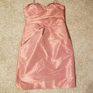 Rose Gold strapless cocktail Dress